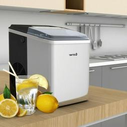 26 lbs/24 H Self-Clean Stainless Steel Ice Maker Small Kitch