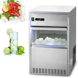 60 lbs ice maker countertop commercial bar