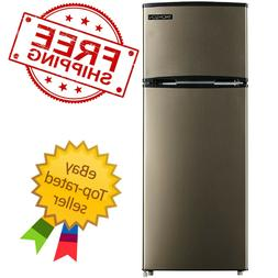 Thomson 7.5 cu ft. Top-Freezer Refrigerator Stainless Look R