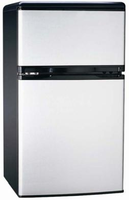 Igloo - 3.2 Cu. Ft. Compact Refrigerator - Stainless-steel