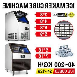 Commercial Stainless Steel Ice Maker Ice Machine 90/110/132/