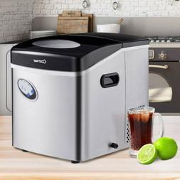 Costway 220W Home Kitchen Stainless Steel Ice Maker with 48