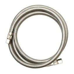 "Eastman Icemaker Universal Connector 10 Feet, 1/4"" Braided S"