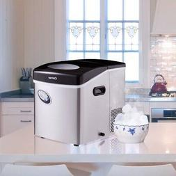 Kitchen Costway Stainless Steel Ice Maker W/48 lb Productivi