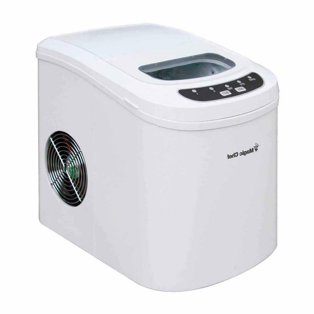 27 lb portable countertop ice maker produces