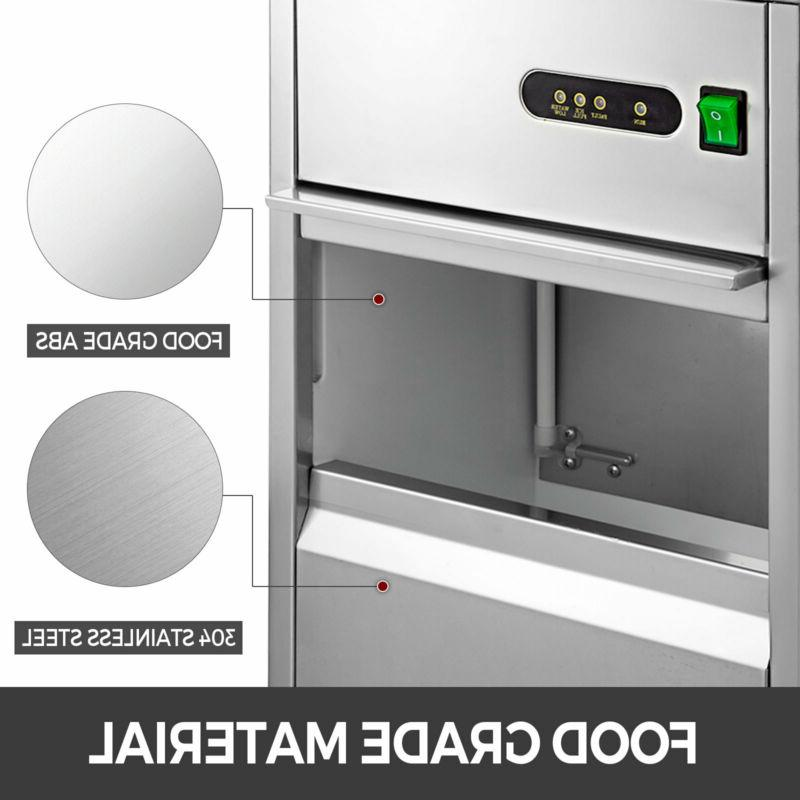 60 Lbs Ice Countertop House Auto Stainless Steel Machine
