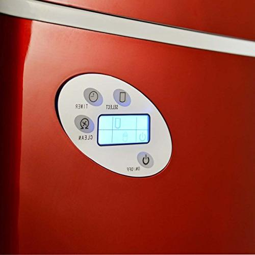 Newair AI-215R Red Ice Maker Daily