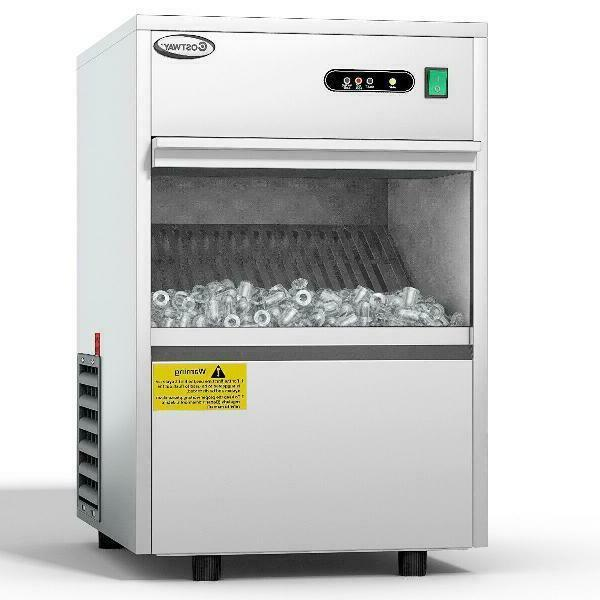 automatic ice maker stainless steel 58lbs 24h