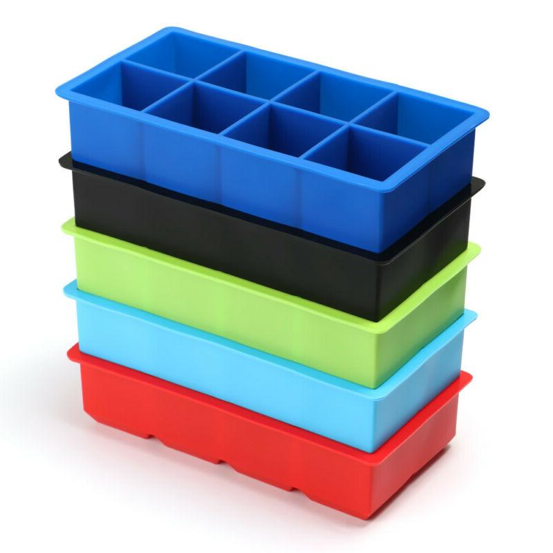 Colorful Home DIY Jumbo Large Cube Tray Mold HOT!