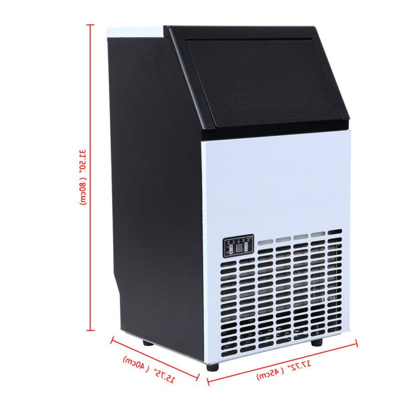 Commercial Ice Machine Auto Cube Stainless Ice
