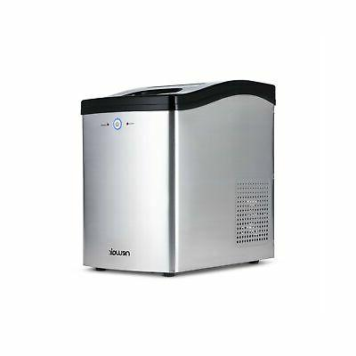 countertop nugget ice maker in stainless steel