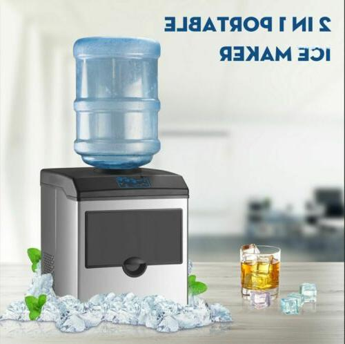 Ice Maker Machine Water Dispenser 2in1 Built-In Electric Cou