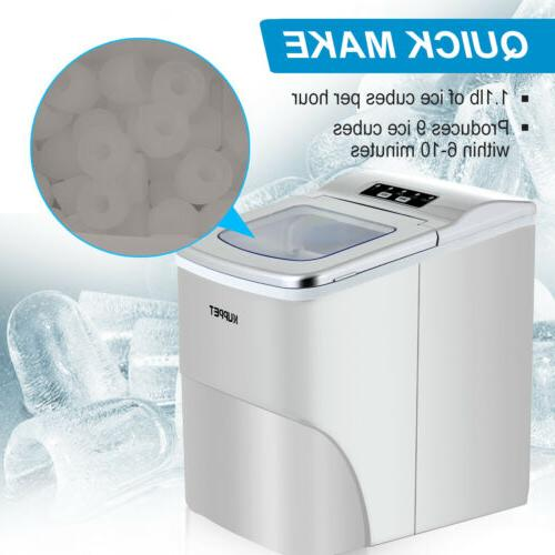 Electric Ice Maker Compact Cube Machine 26lbs/Day