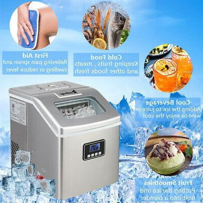 Zokop Portable Quick Mini Ice Maker Countertop 40LB
