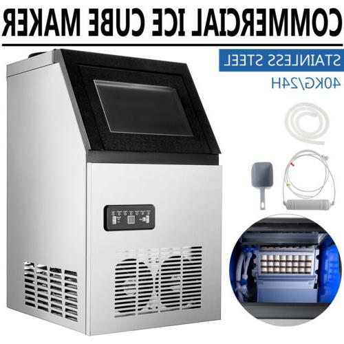 90LB Built-in Ice Maker Bar Restaurant Ice Cube Machine Unde