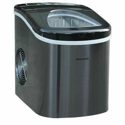 portable compact self cleaning ice maker stainless
