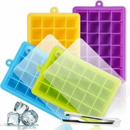 silicone ice cube tray with lid reusable